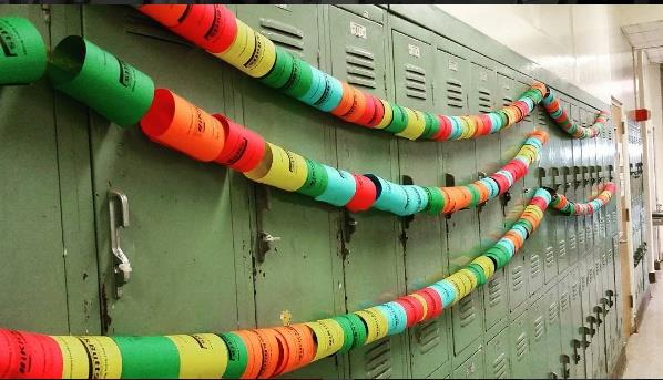 Lockers in Use