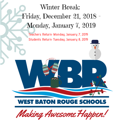 Winter Break Announcement