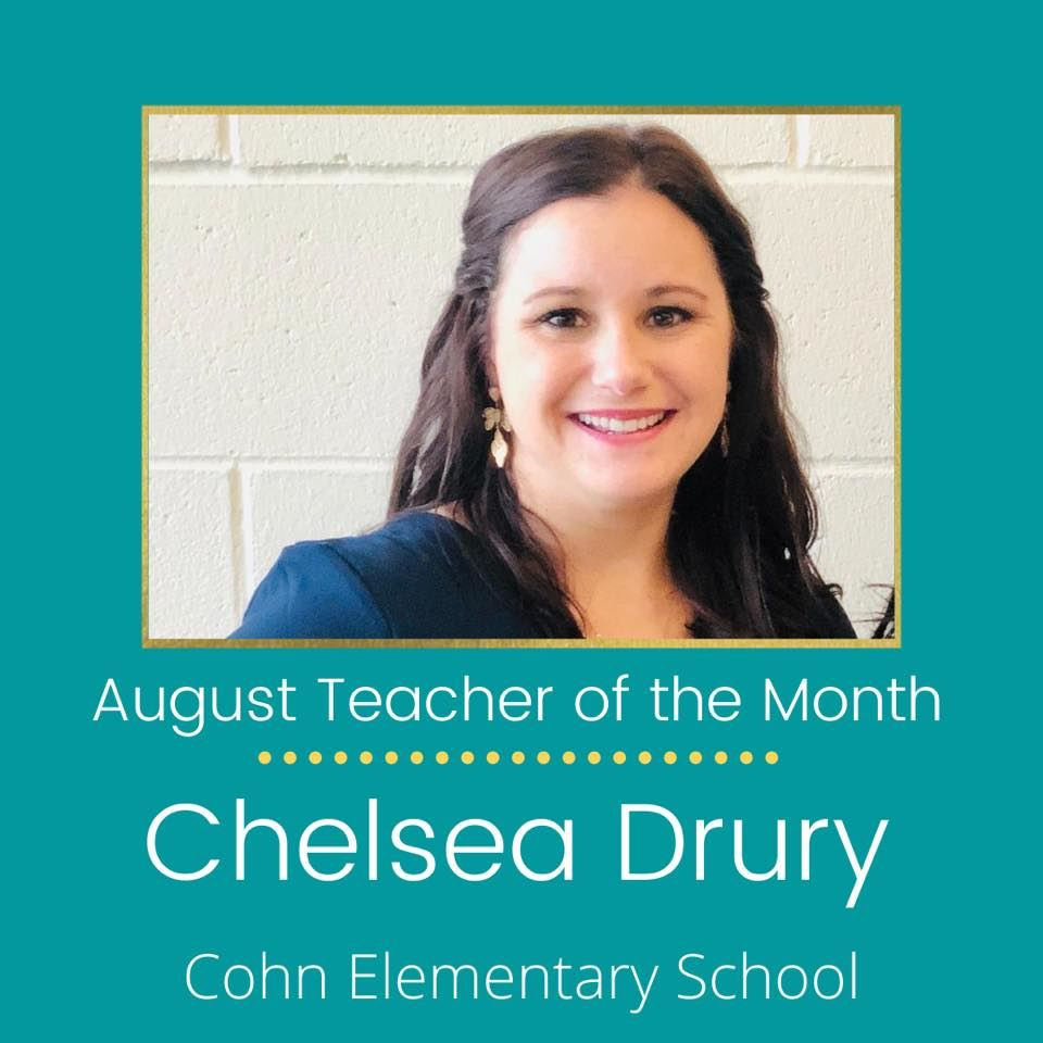 Ms. Drury of Cohn Elementary School is Named Dream Teacher of the Month (August)