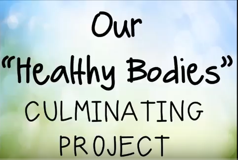 CES PreK Student create a fantastic Healthy Bodies video!